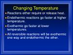 changing temperature