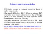 active break monsoon index