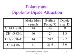 polarity and dipole to dipole attraction