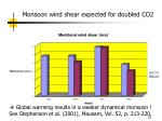 monsoon wind shear expected for doubled co2