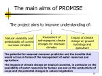the main aims of promise