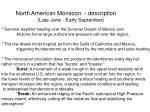 north american monsoon description
