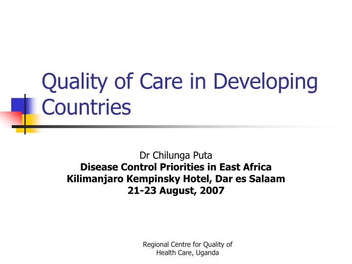 quality of care in developing countries n.