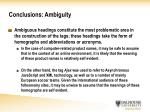conclusions ambiguity