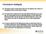 conclusions ambiguity22