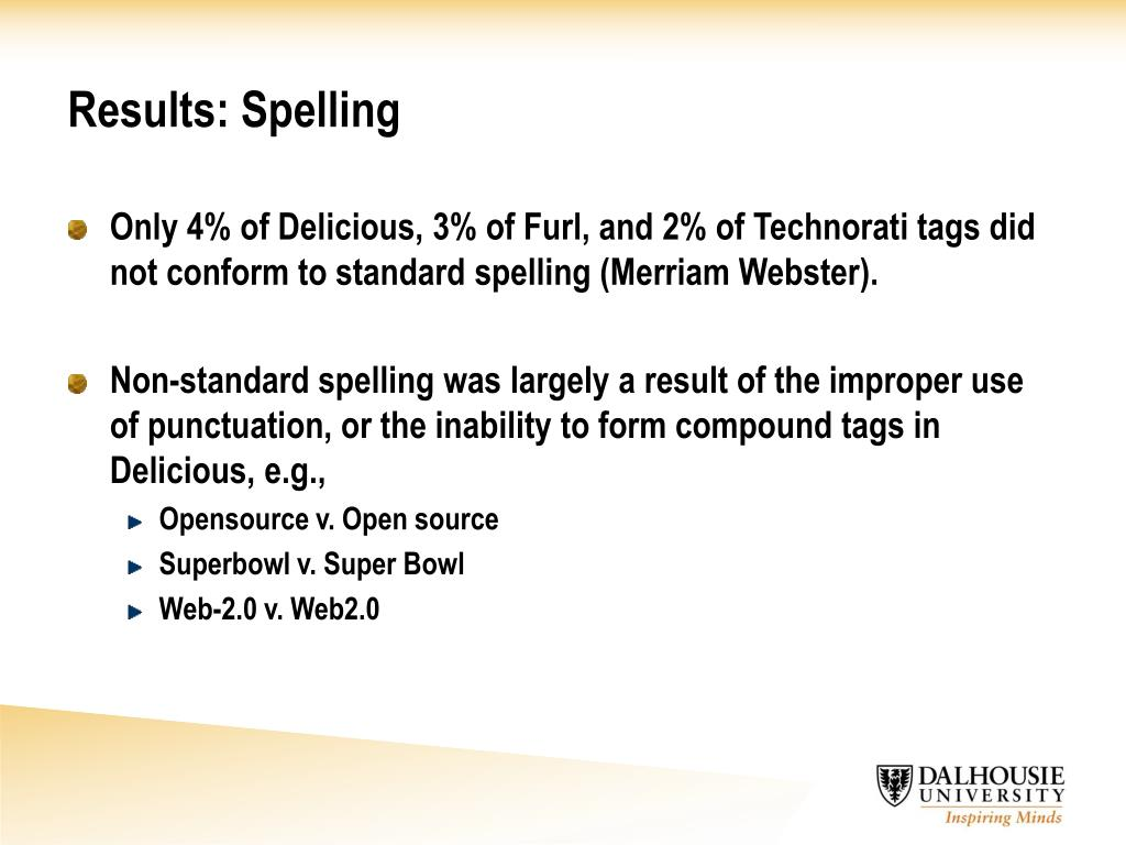 Results: Spelling