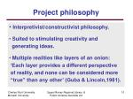 project philosophy