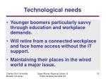 technological n eeds