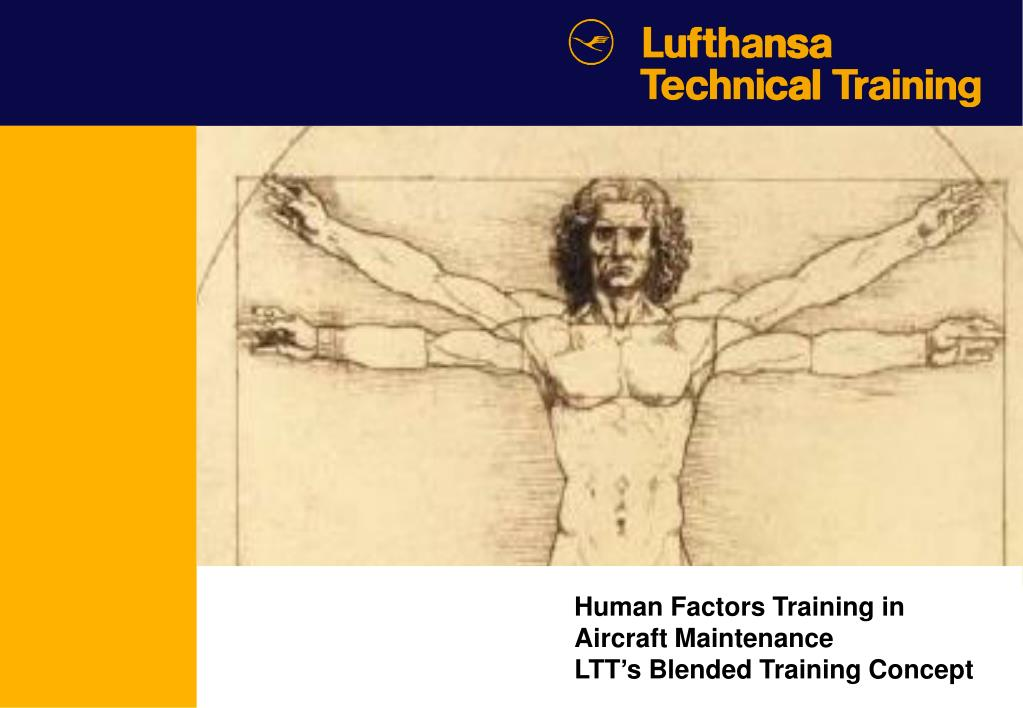 human factors training in aircraft maintenance ltt s blended training concept l.