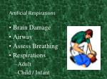 artificial respirations