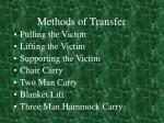 methods of transfer