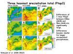 three heaviest precipitation total ptop3