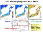 three heaviest precipitation total ptop327