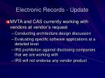 electronic records update