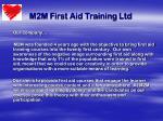m2m first aid training ltd