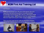 m2m first aid training ltd3