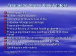 traumatic stress risk factors