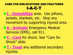care for dislocations and fractures i a c t