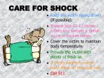 care for shock