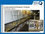 leaning industrial mechanic s program pursuing excellence46