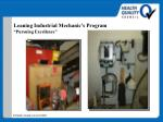 leaning industrial mechanic s program pursuing excellence47