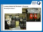 leaning industrial mechanic s program pursuing excellence48