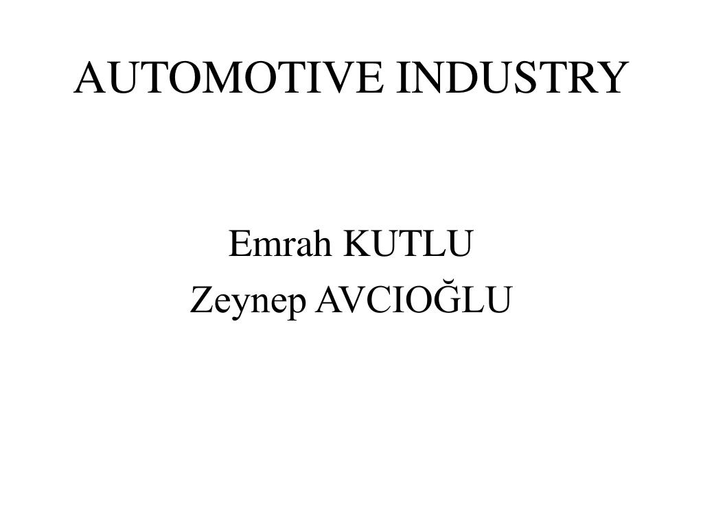 automotive industry l.