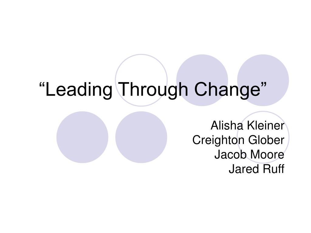 leading through change l.