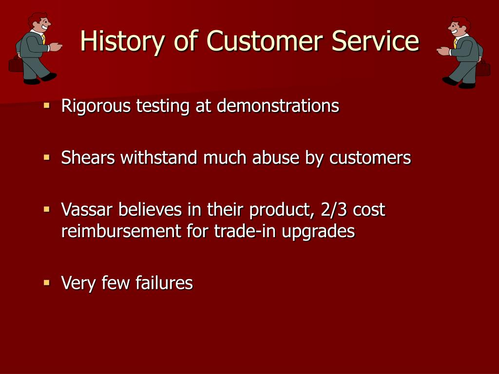 History of Customer Service
