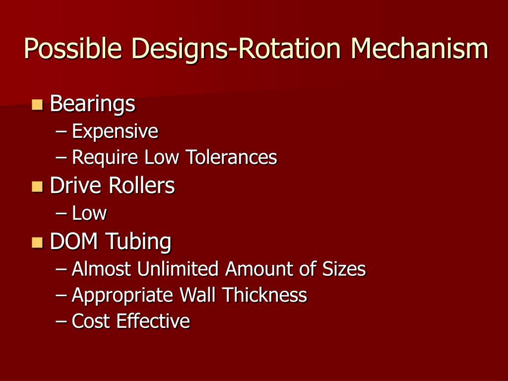 Possible Designs-Rotation Mechanism