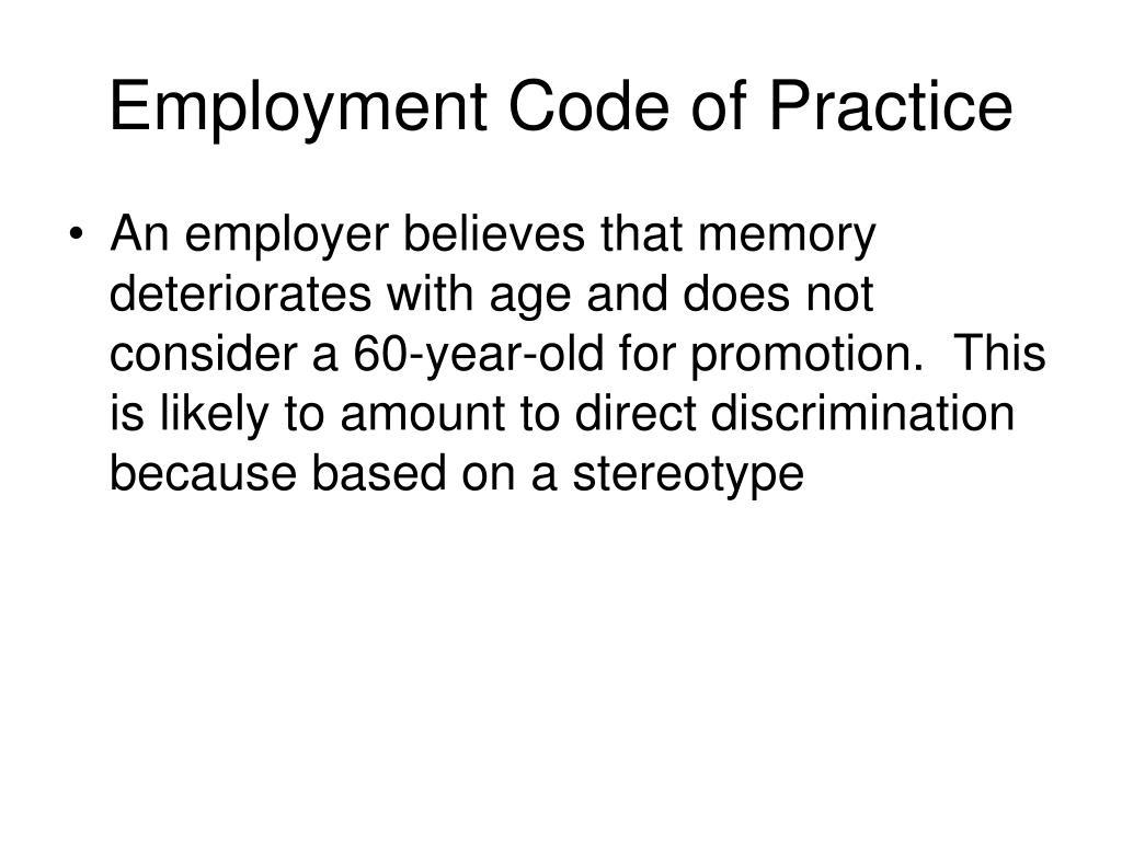 Employment Code of Practice