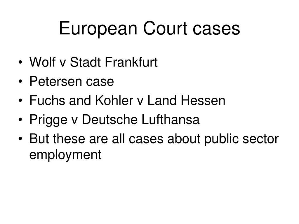 European Court cases