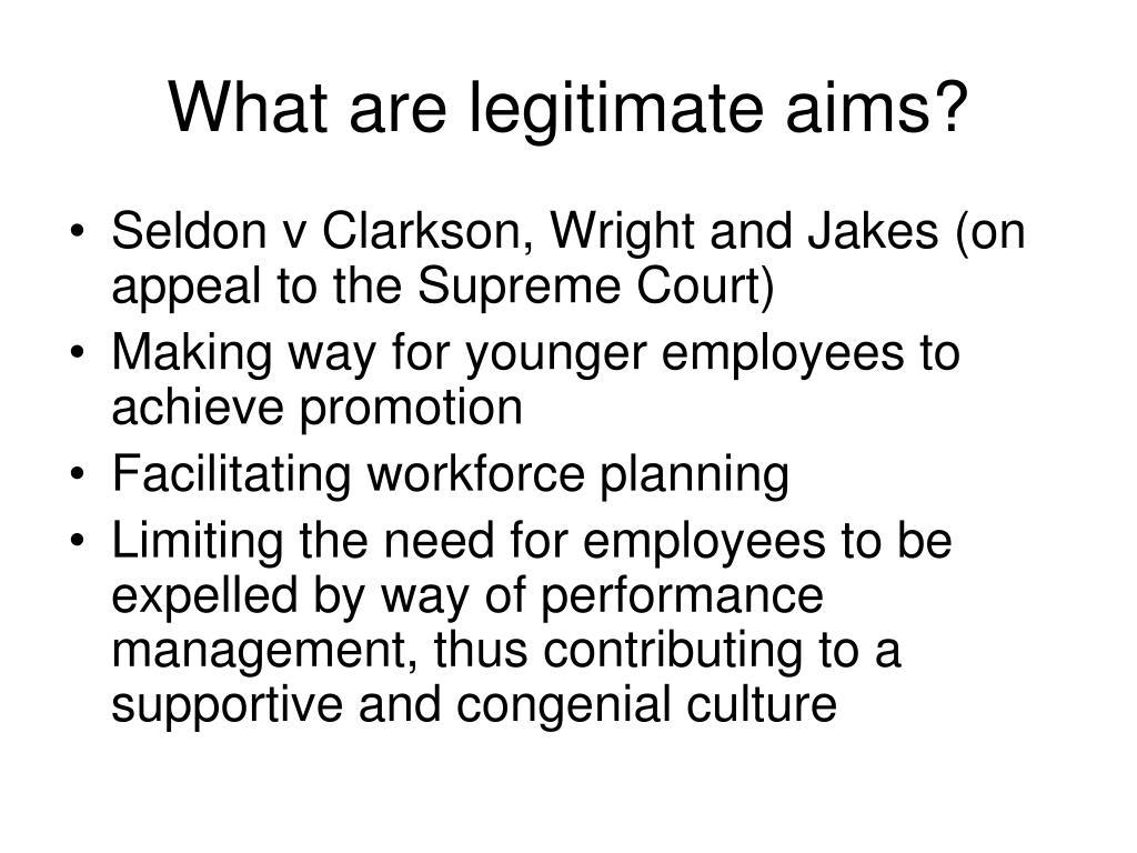 What are legitimate aims?