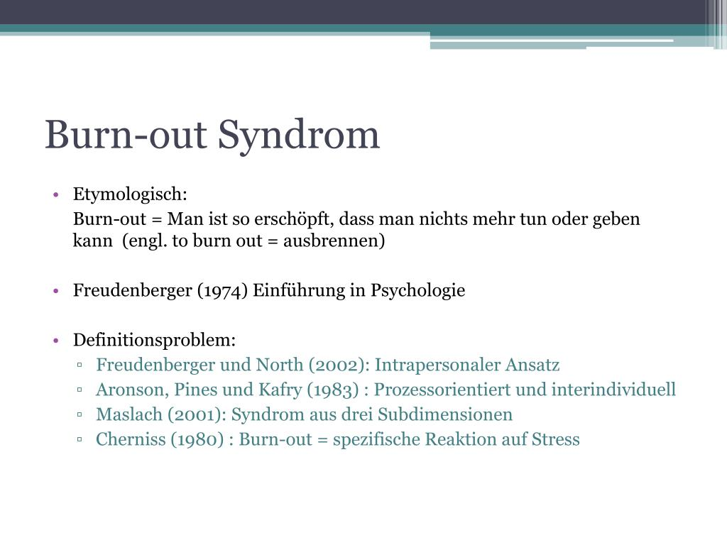 Burn-out Syndrom
