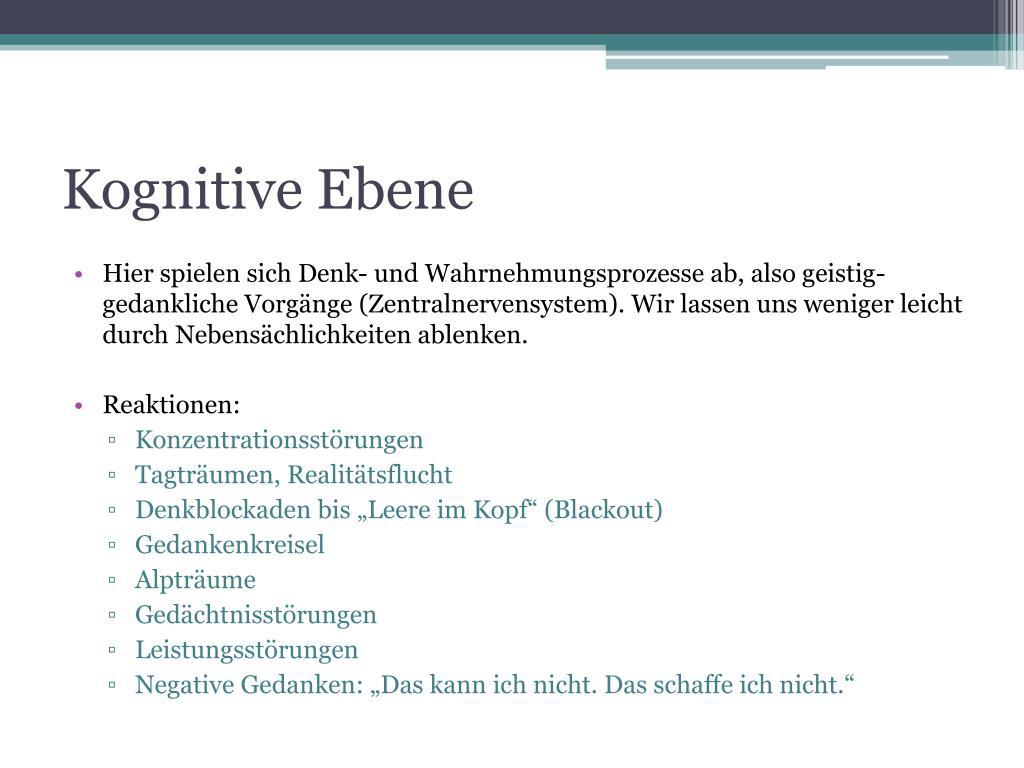 Kognitive Ebene