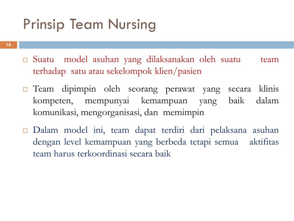 Prinsip Team Nursing
