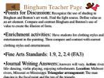 bingham teacher page