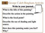 george caleb bingham activity