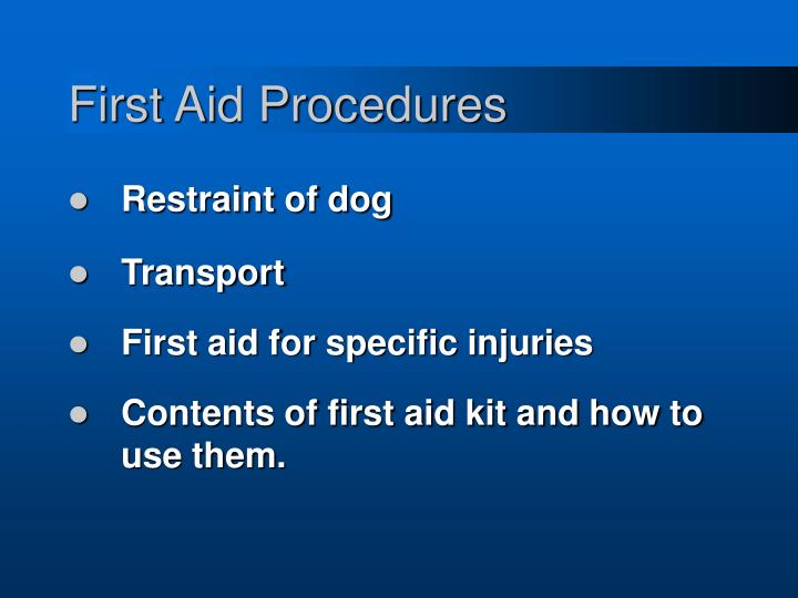 First aid procedures3
