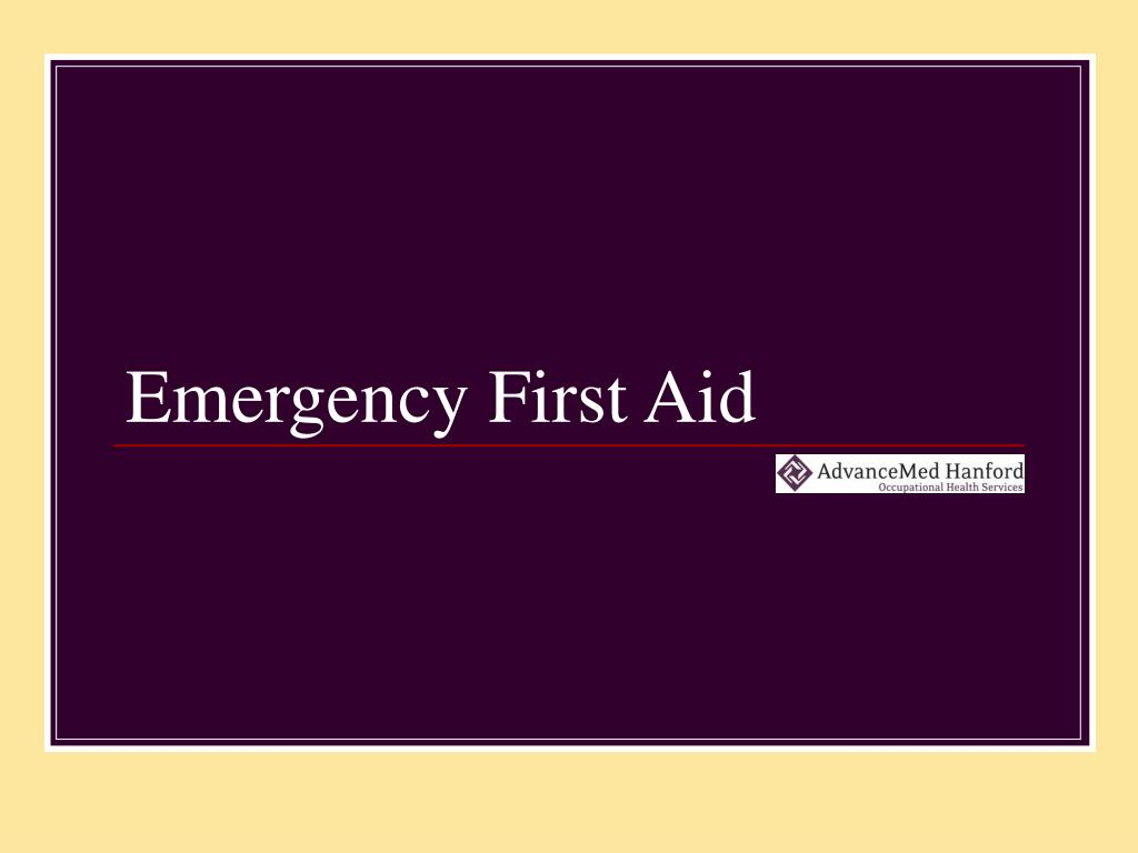 emergency first aid l.
