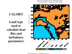 calmet land type used to calculate heat flux and turbulence parameters