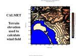 calmet terrain elevation used to calculate wind field