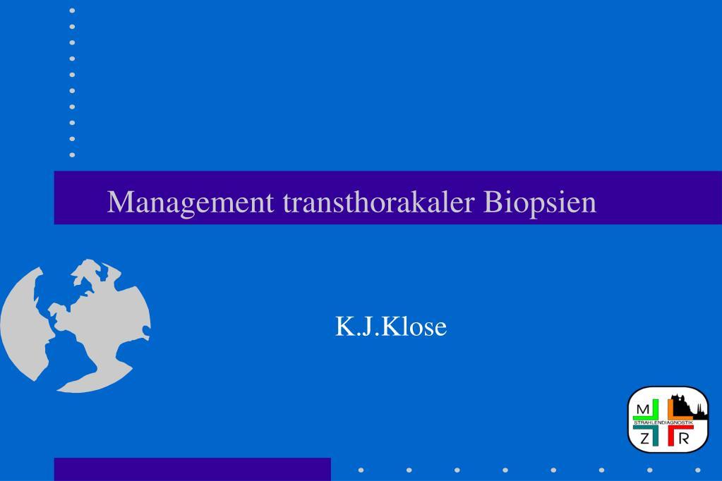 management transthorakaler biopsien l.
