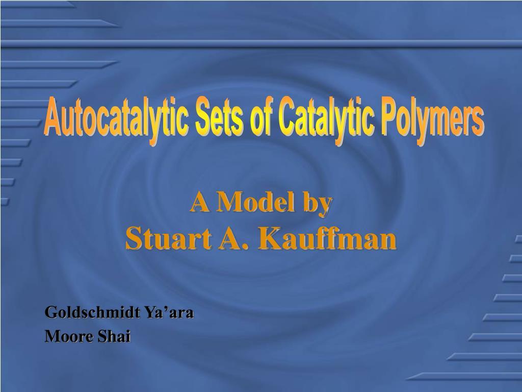 a model by stuart a kauffman l.