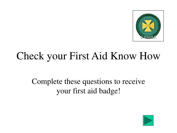 check your first aid know how n.