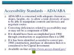 accessibility standards ada aba