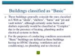 buildings classified as basic