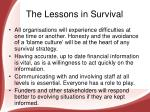 the lessons in survival