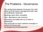 the problems governance