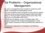 the problems organisational management